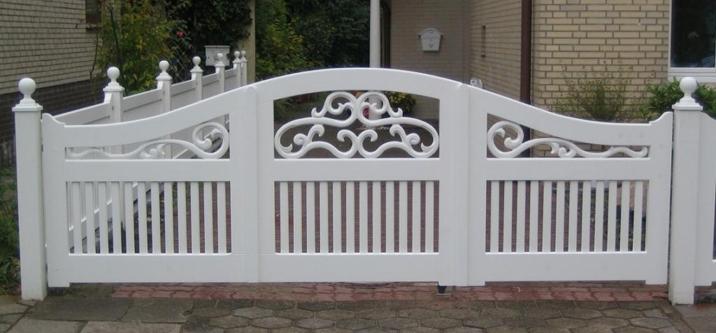 Gartentor für schmale Einfahrten