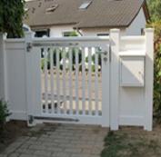 Gartenpforte Gartentür Sichtschutz Holz in Weiß und RAL